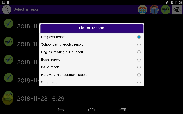 List of reports
