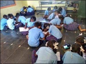 Children absorbed in learning